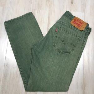 Men's green Levi's 501